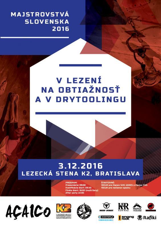 Majstrovstvá Slovenska v lezení na obtiažnosť a v drytoolingu 2ae1af24d9b